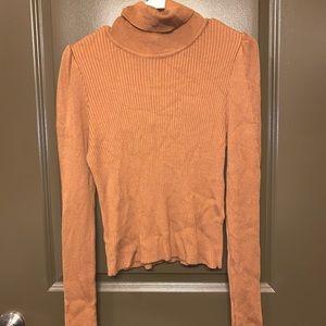 Tan Topshop Turtleneck Sweater